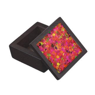 Red Green Gold & Pink Dots Pattern Decorative Premium Gift Box
