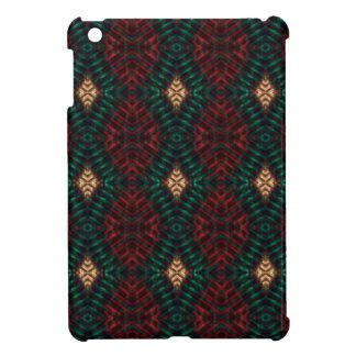 Red, Green & Gold Textured Diamonds iPad Mini Cover
