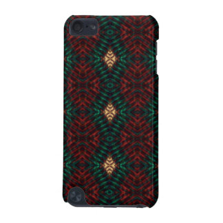 Red, Green & Gold Textured Diamonds iPod Touch 5G Case