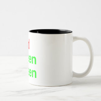 Red Green Green Two-Tone Coffee Mug
