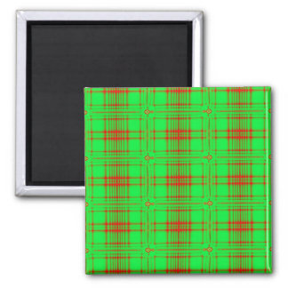 red green holiday 2 inch square magnet