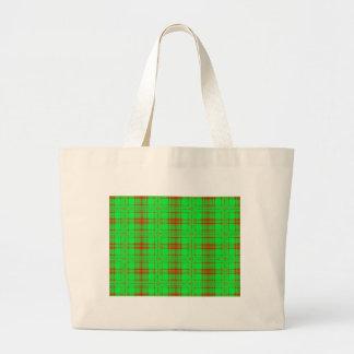 red green holiday jumbo tote bag