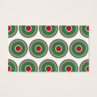 Red Green Holiday Christmas Wreath Design Business Card