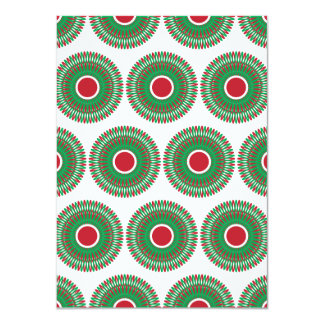 Red Green Holiday Christmas Wreath Design Card
