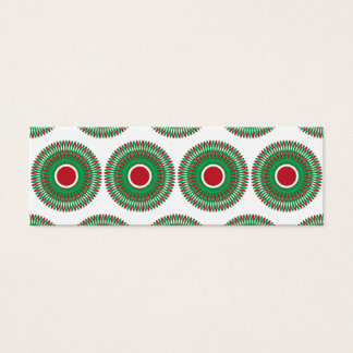 Red Green Holiday Christmas Wreath Design Mini Business Card