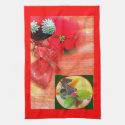 Red Green Holiday Desert Kitchen Towel Design