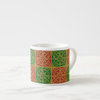 Red Green Holiday Gothic Espresso Cup