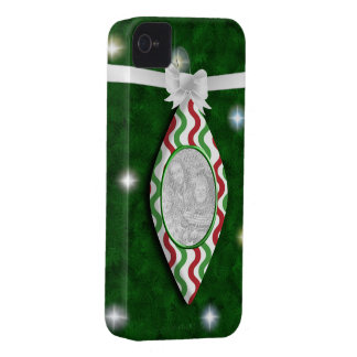 Red & Green Holiday Ornament Photo iPhone 4 Case