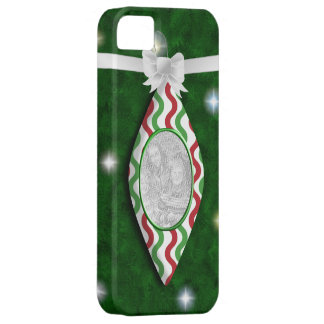 Red & Green Holiday Ornament Photo iPhone 5 Case