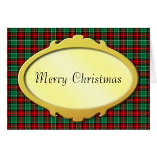 Red Green Holiday Plaid Custom Cards