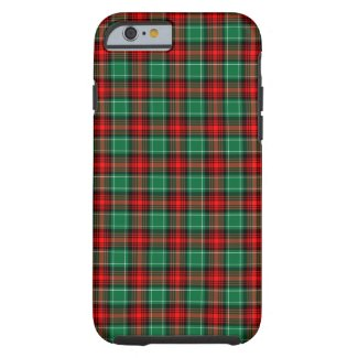 Red Green Holiday Plaid iPhone 6 case