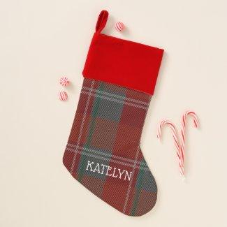 Plaid Personalized Christmas Stocking