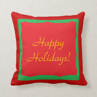 """Red & Green Holidays 20"""" x 20"""" Throw Pillow"""