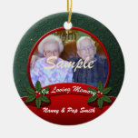 Red Green Holly In Loving Memory Christmas Christmas Tree Ornament