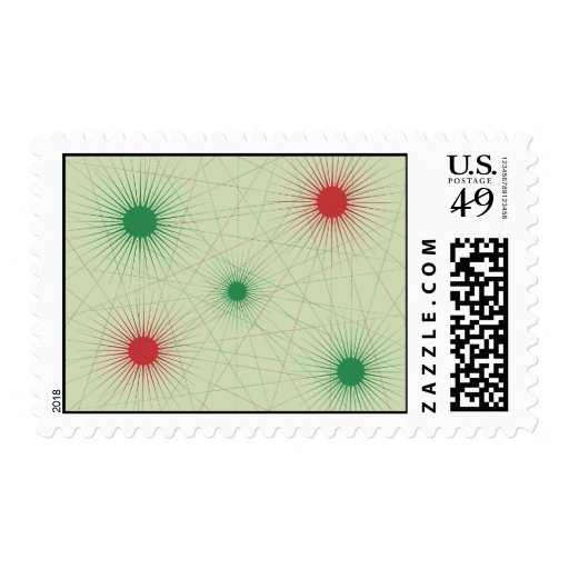 Red & Green Hot Spot Stamp