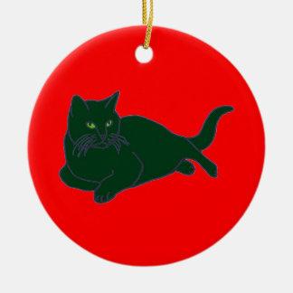 Red & Green Kitties ornament
