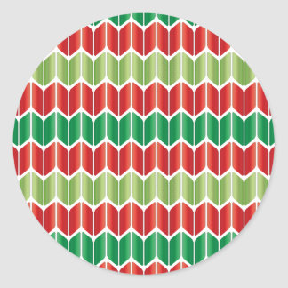 Red Green Large Knit Classic Round Sticker