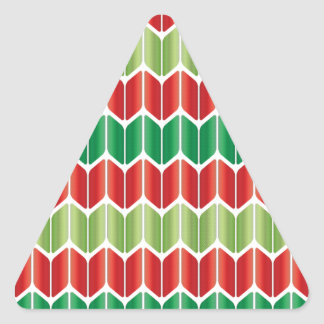 Red Green Large Knit Triangle Sticker