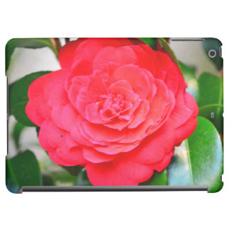 Red green leaf Camellia flower close-up Case For iPad Air