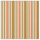 [ Thumbnail: Red, Green, Light Cyan & Tan Colored Pattern Fabric ]