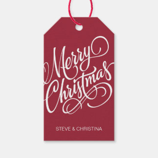 Red & Green Merry Christmas Gift Tags