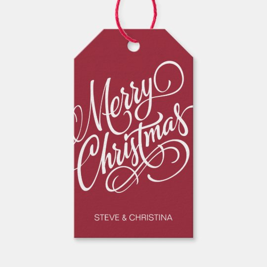 Merry Christmas Gift.Red Green Merry Christmas Gift Tags