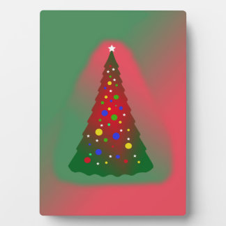 Red Green Merry Christmas Tree Plaque