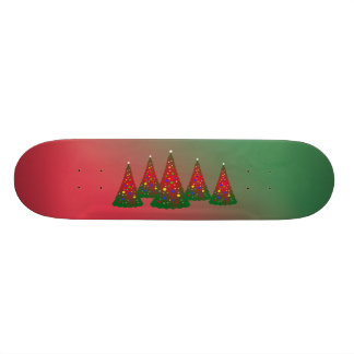 Red Green Merry Christmas Tree Skateboard Deck