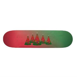 Red Green Merry Christmas Tree Skateboard Deck