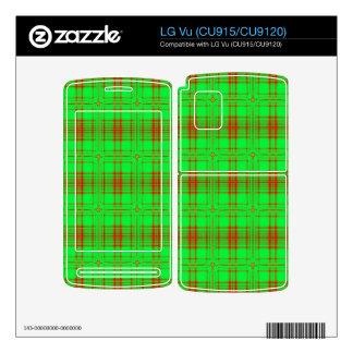 red green modern plaid pattern LG vu skin