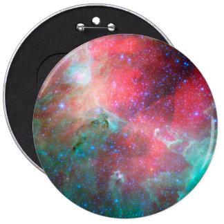 Red green nebula pinback button