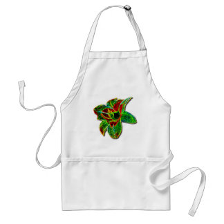 Red/Green Neon Daylily Adult Apron