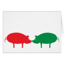 Red & Green Oinks Card