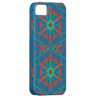Red, Green, Orange pattern i-phone 5 Case