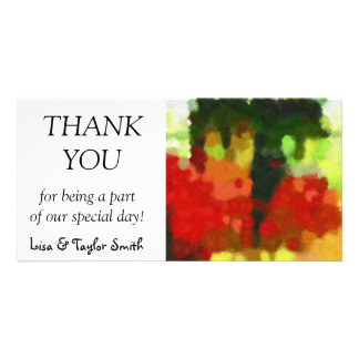 Red green painting card