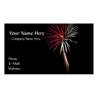 Red & Green Palm Business Card