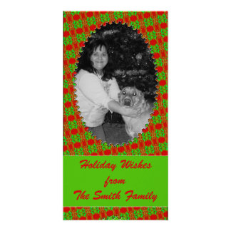 Red Green patchwork Card