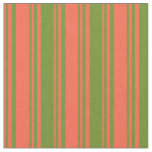 [ Thumbnail: Red & Green Pattern Fabric ]