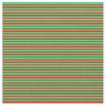 [ Thumbnail: Red & Green Pattern of Stripes Fabric ]