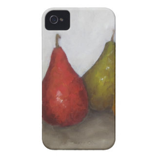 Red Green Pears Oil Painting Original Art iPhone 4 Case-Mate Case