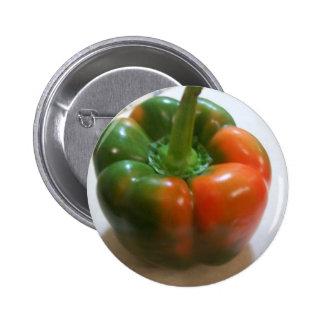 Red & Green Pepper Button