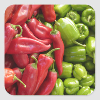 Red & Green Peppers Stickers
