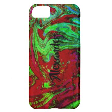 RED GREEN PERSONALIZED iPhone 5C CASE BARELY THERE