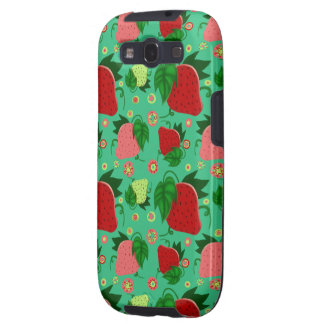 Red Green Pink Strawberries Samsung Galaxy S3 Cases