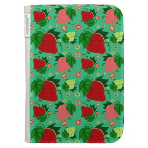 Red Green Pink Strawberries Kindle 3G Case