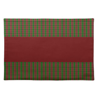 Red Green Plaid Christmas Placemat
