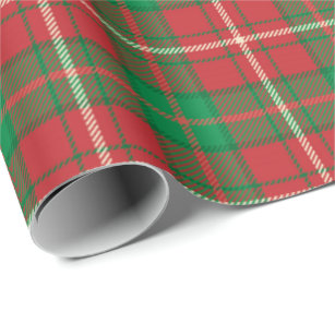 plaid christmas wrapping paper zazzlered green plaid christmas wrapping paper