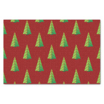 red green, polka dots and christmas trees tissue paper