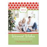 Red Green Quatrefoil Christmas Flat Card Custom Invites