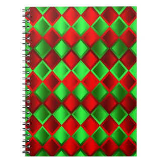 Red Green Quilt Harlequin Notebooks